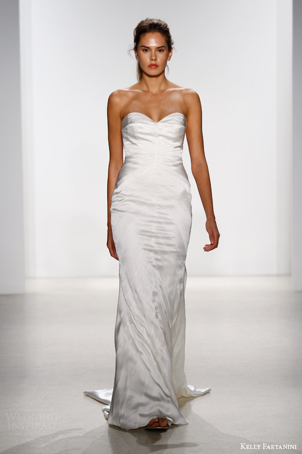 kelly faetanini bridal spring 2016 drue strapless mermaid wedding dress chevron panel