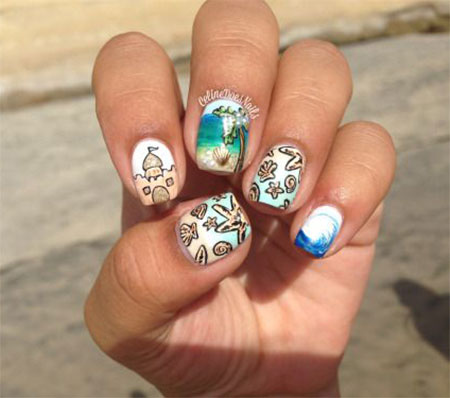 30 Best Cool Summer Nail Art Designs Ideas Trends Stickers 2015 13 30+ Best & Cool Summer Nail Art Designs, Ideas, Trends & Stickers 2015