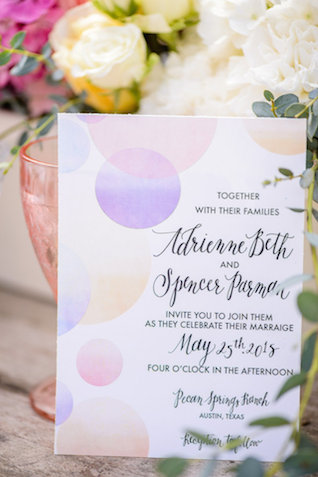 Pastel ombre wedding invitations | The Veil Wedding Photography | see more on: http://burnettsboards.com/2015/05/whimsical-pastel-ombre-wedding-ideas/