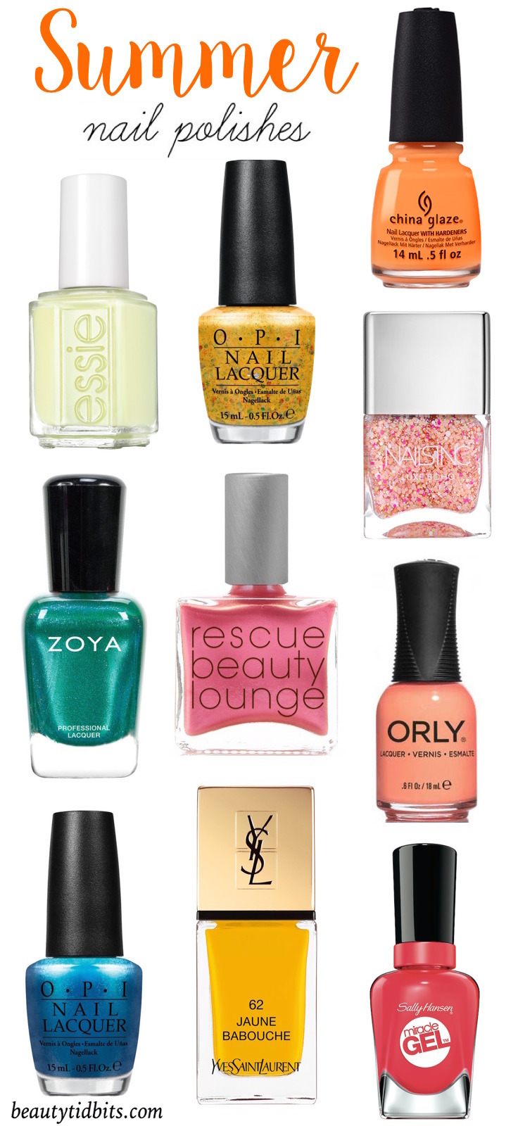 Summer Nail Polish Colors