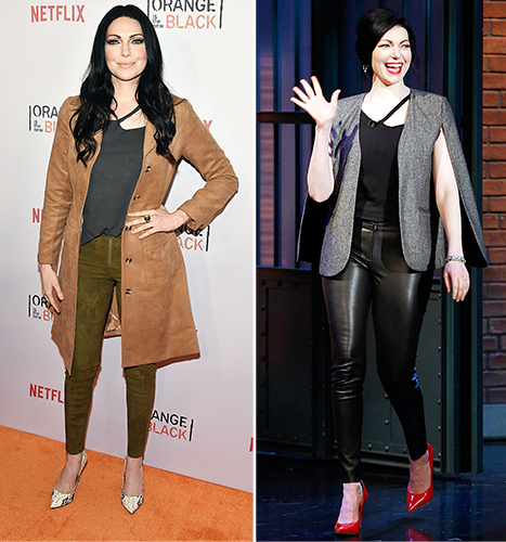Laura Prepon wore the same ripped shirt twice in one week.