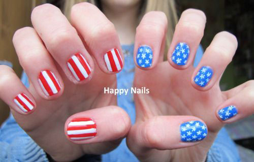 12 American Flag Nail Art Designs Ideas Trends Stickers 2015 4th Of July Nails 13 12+ American Flag Nail Art Designs, Ideas, Trends & Stickers 2015 | 4th Of July Nails