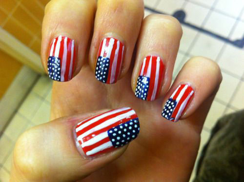 12 American Flag Nail Art Designs Ideas Trends Stickers 2015 4th Of July Nails 10 12+ American Flag Nail Art Designs, Ideas, Trends & Stickers 2015 | 4th Of July Nails