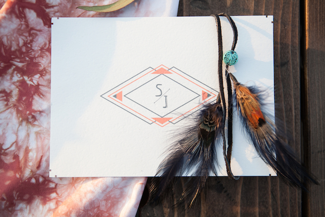 Boho geometric wedding invitations | Cornerstone Photography| see more on:
