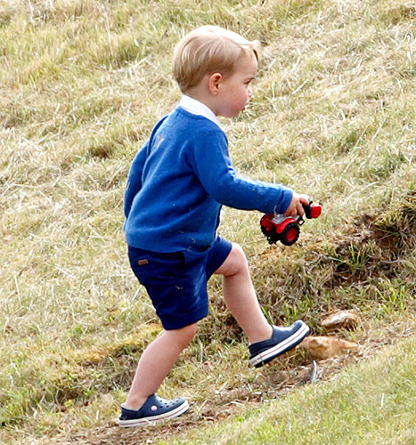 Prince George of Cambridge at the Gigaset Charity Polo Match at the Beaufort Polo Club on June 14, 2015 in Tetbury, England.