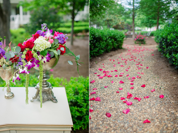 wedding ceremony decor - photo by Jonathan and Kaye http://ruffledblog.com/surprise-wedding-for-the-groom-in-atlanta