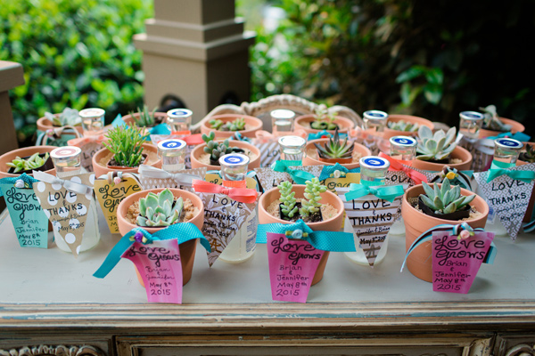 wedding favors - photo by Jonathan and Kaye http://ruffledblog.com/surprise-wedding-for-the-groom-in-atlanta
