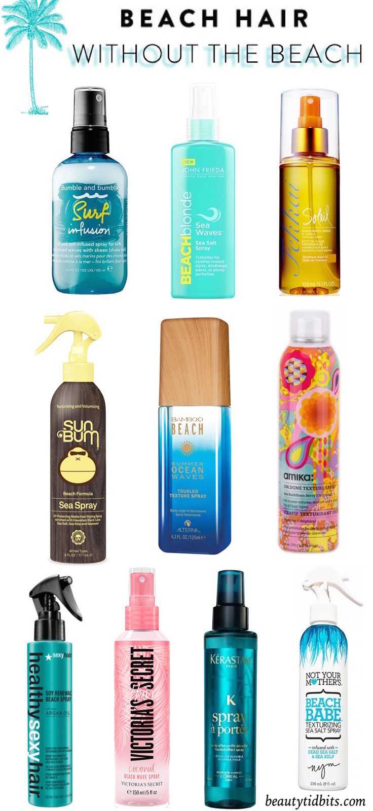 Beachy Waves In A Bottle The Best Texturizing Sprays For
