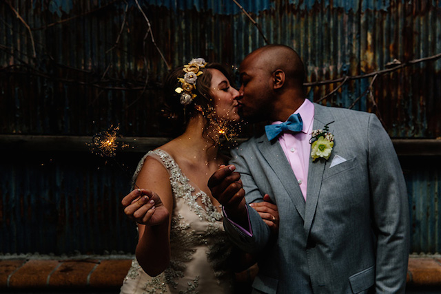 XO sparklers | The Melideos + Kerry Ann Stokes | see more on: http://burnettsboards.com/2015/06/vintage-coney-island-wedding/