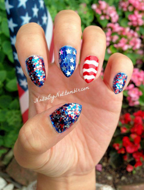 12 American Flag Nail Art Designs Ideas Trends Stickers 2015 4th Of July Nails 11 12+ American Flag Nail Art Designs, Ideas, Trends & Stickers 2015 | 4th Of July Nails