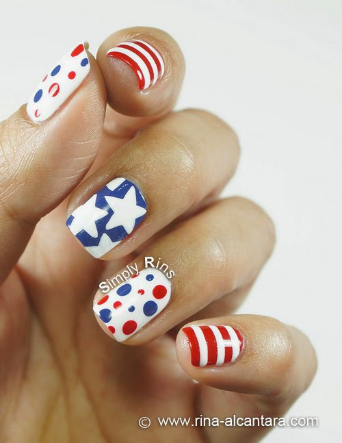 4th of July Nail Art Design 02