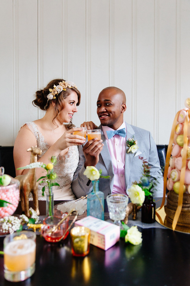 Vintage Coney Island wedding inspiration | The Melideos + Kerry Ann Stokes | see more on: http://burnettsboards.com/2015/06/vintage-coney-island-wedding/