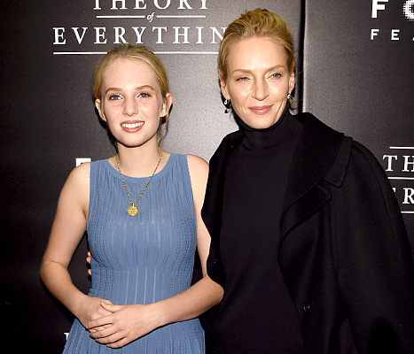 Maya Thurman-Hawke and Uma Thurman attend