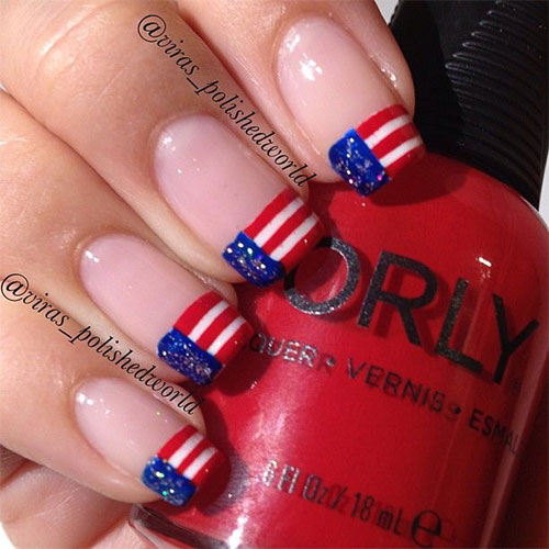 12 American Flag Nail Art Designs Ideas Trends Stickers 2015 4th Of July Nails 7 12+ American Flag Nail Art Designs, Ideas, Trends & Stickers 2015 | 4th Of July Nails