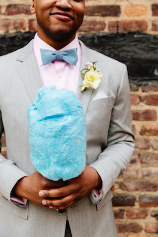Blue cotton candy | The Melideos + Kerry Ann Stokes | see more on: http://burnettsboards.com/2015/06/vintage-coney-island-wedding/