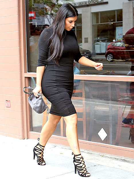 Pregnant Kim Kardashian goes to lunch on June 9, 2015 in Beverly Hills.