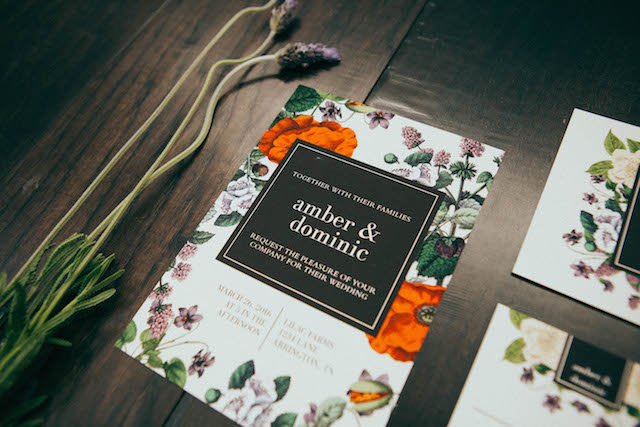 Botanical wedding invitations - customizable wedding invites from https://www.basicinvite.com/wedding/wedding-invitations.html