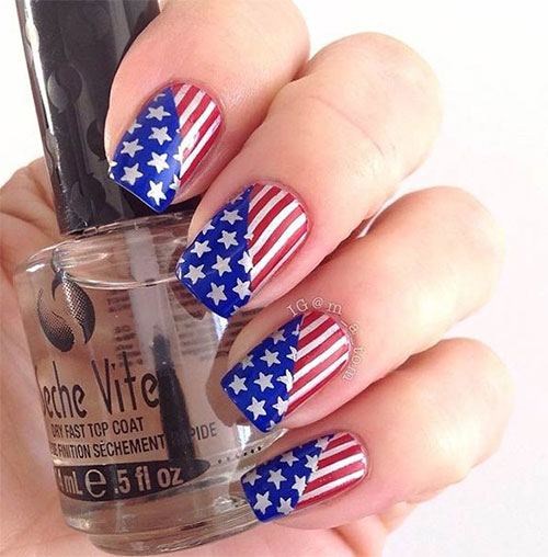 12 American Flag Nail Art Designs Ideas Trends Stickers 2015 4th Of July Nails 3 12+ American Flag Nail Art Designs, Ideas, Trends & Stickers 2015 | 4th Of July Nails