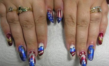 20 Best Fourth Of July Nail Art Designs, Ideas, Trends & Stickers 2015 | 4th Of July Nails