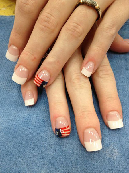 15 Simple Fourth Of July Nail Art Designs Ideas Stickers 2015