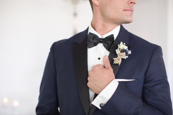 modern groom look - photo by Amy and Jordan Photography http://ruffledblog.com/modern-silver-and-purple-wedding-editorial