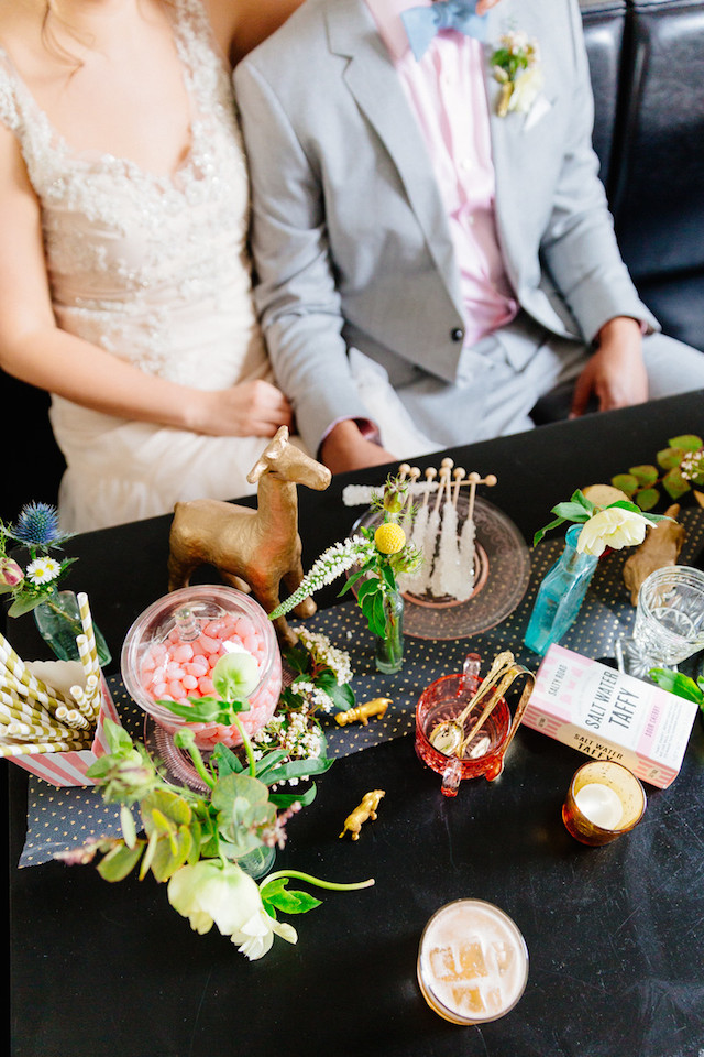 Vintage candy-themed wedding | The Melideos + Kerry Ann Stokes | see more on: http://burnettsboards.com/2015/06/vintage-coney-island-wedding/