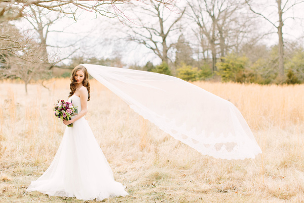 berry toned spring wedding editorial - photo by Erika Lynn Photography http://ruffledblog.com/berry-toned-spring-wedding-editorial