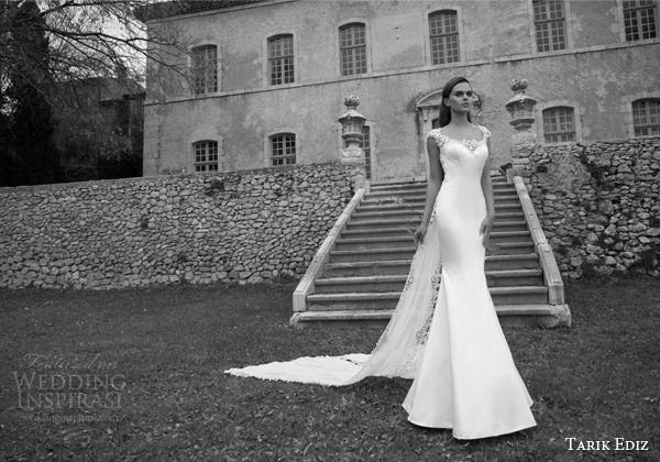 tarik ediz bridal 2015 turmalin cap sleeve wedding dress