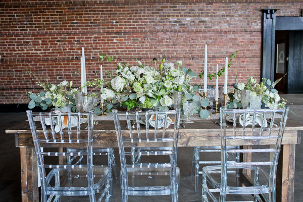 Neo-Vintage Industrial Wedding - photo by Mirabel Photography http://ruffledblog.com/neo-vintage-industrial-wedding