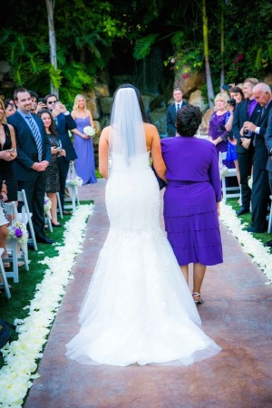 Walking down the aisle with mom