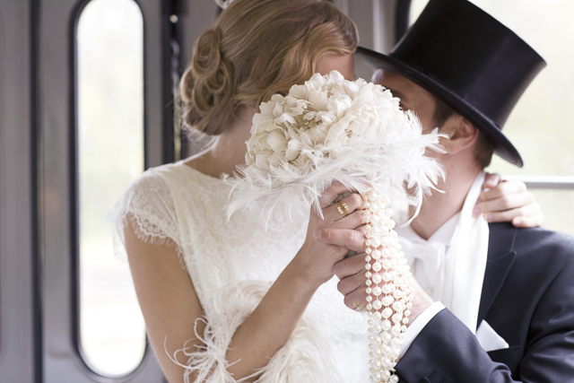 Vintage wedding on an old train | Tausendschon Photographie | see more on: http://burnettsboards.com/2015/05/1930s-wedding-vintage-train/