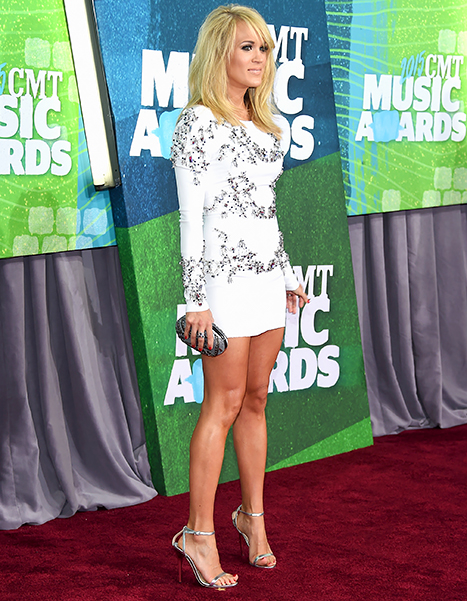 Carrie Underwood attends the 2015 CMT Music awards at the Bridgestone Arena on June 10.