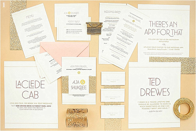 Light Pink and Gold Glitter Wedding Invitations