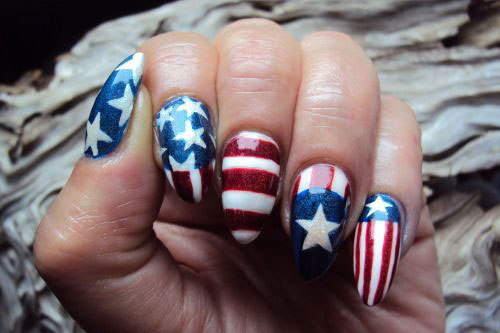 12 American Flag Nail Art Designs Ideas Trends Stickers 2015 4th Of July Nails 8 12+ American Flag Nail Art Designs, Ideas, Trends & Stickers 2015 | 4th Of July Nails
