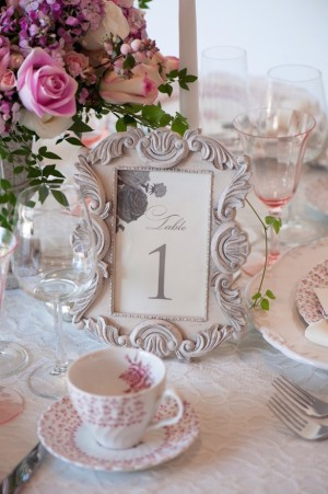 Vintage Table Number ~ Jill Lauren Photography