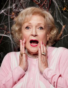 Betty White 2015 Short Hairstyles with Red Lips