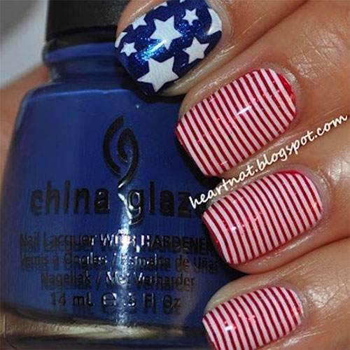 12 American Flag Nail Art Designs Ideas Trends Stickers 2015 4th Of July Nails 1 12+ American Flag Nail Art Designs, Ideas, Trends & Stickers 2015 | 4th Of July Nails