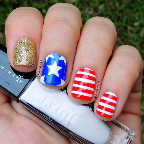 12 American Flag Nail Art Designs Ideas Trends Stickers 2015 4th Of July Nails 12 12+ American Flag Nail Art Designs, Ideas, Trends & Stickers 2015 | 4th Of July Nails