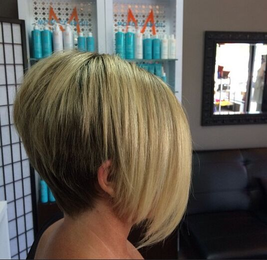 Bob Hair Cut with Long Bangs