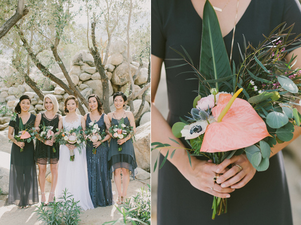 bridesmaid bouquet - photo by Laura Goldenberger http://ruffledblog.com/palm-springs-wedding-for-a-creative-bride-and-groom