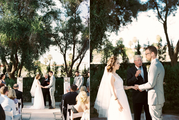 wedding ceremony - photo by Laura Goldenberger http://ruffledblog.com/palm-springs-wedding-for-a-creative-bride-and-groom