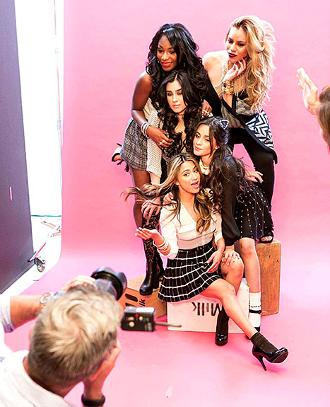 The Fifth Harmony ladies strikes a pose for their Fall 2015 Candie's campaign.