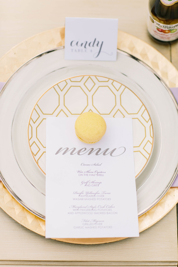 spring wedding plate - photo by Erika Lynn Photography http://ruffledblog.com/berry-toned-spring-wedding-editorial