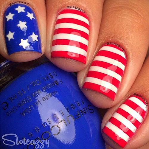 12 American Flag Nail Art Designs Ideas Trends Stickers 2015 4th Of July Nails 2 12+ American Flag Nail Art Designs, Ideas, Trends & Stickers 2015 | 4th Of July Nails