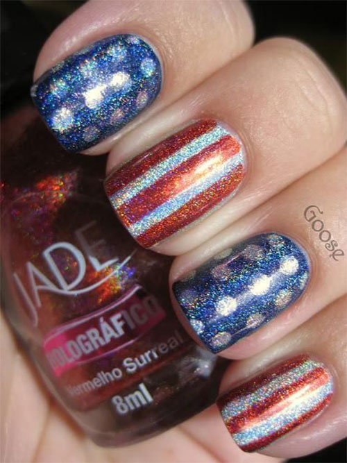 12 American Flag Nail Art Designs Ideas Trends Stickers 2015 4th Of July Nails 4 12+ American Flag Nail Art Designs, Ideas, Trends & Stickers 2015 | 4th Of July Nails