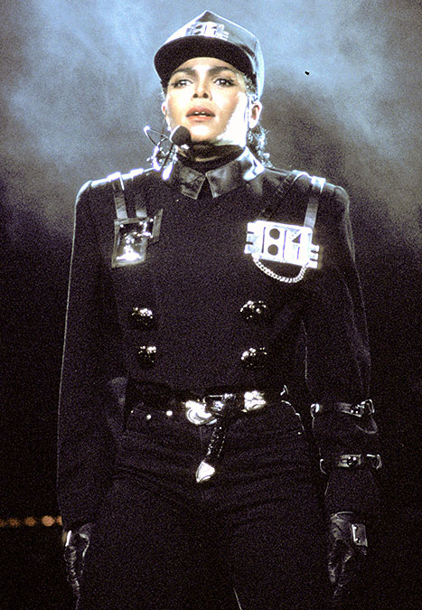 Janet Jackson donned military-chic during her