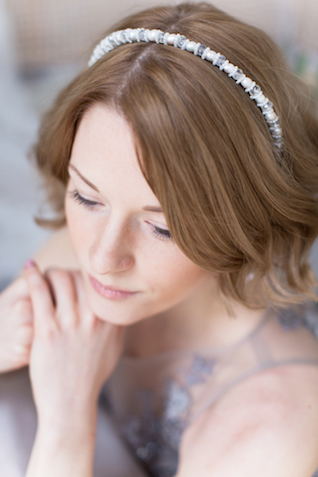 Lavender bridal headpiece | Elisaveta Sudarikova | see more on: http://burnettsboards.com/2015/06/lavender-bride/