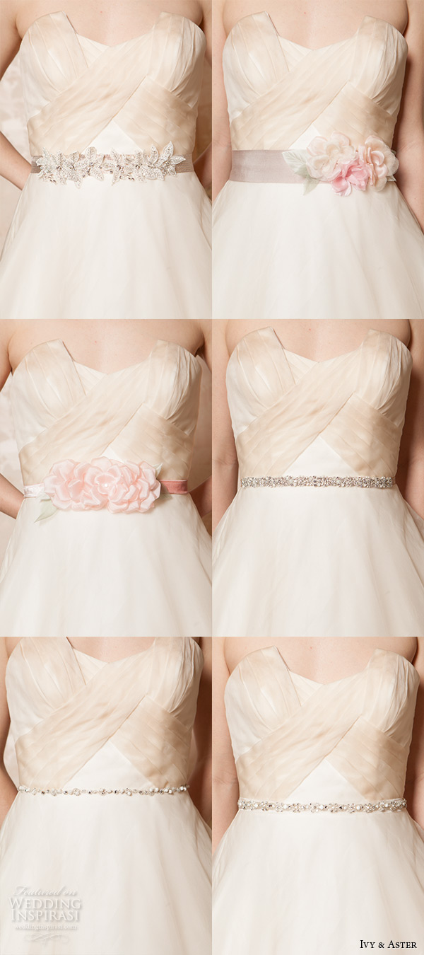 ivy and aster spring 2016 bridal crumb catcher neckline ivory champagne a line wedding dress with pockets ribbon styles