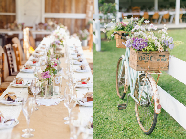 reception details - photo by Courtney Horwood Photography http://ruffledblog.com/modern-barn-wedding-in-new-zealand