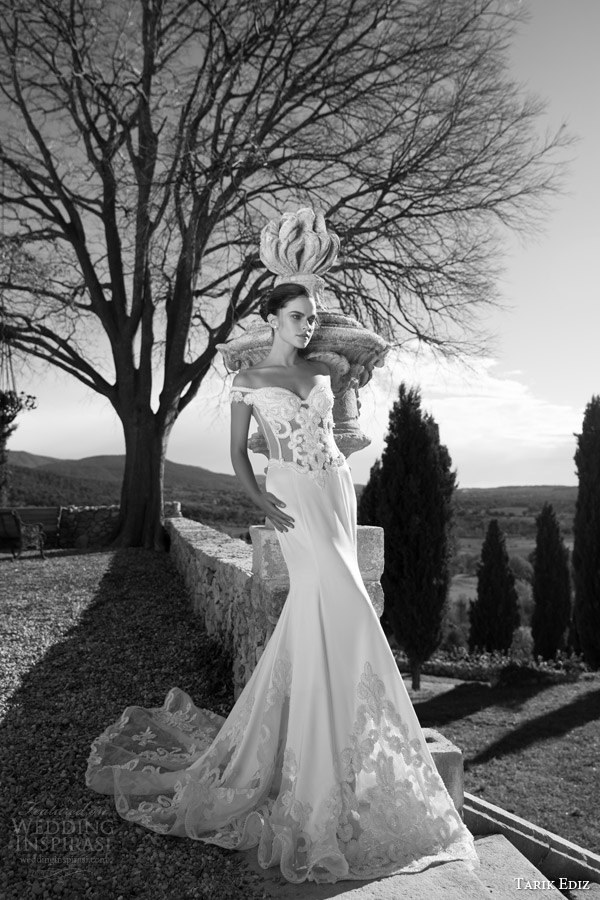tarik ediz 2015 bridal zumrut off shoulder mermaid wedding dress sweetheart bodice